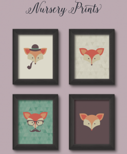 Designs by miss Mandee - Free fox nursery prints