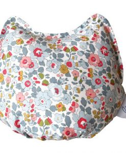 Chic Mercredi Coussin chat liberty betsy porcelaine