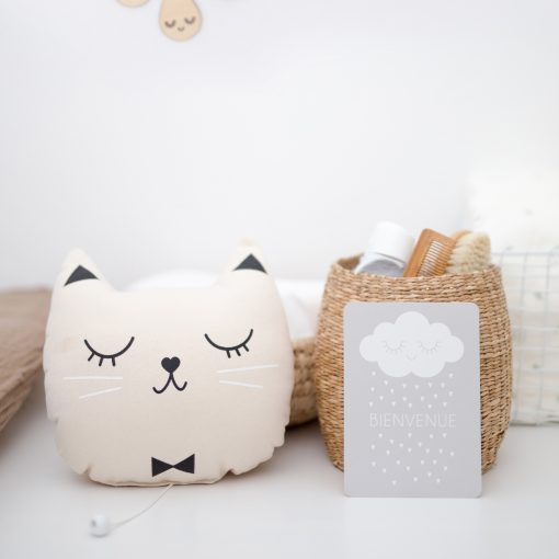 coussin chat musical