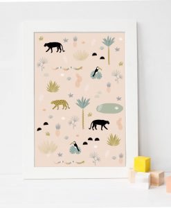 affiche-enfant-décoration-jungle-chic-mercredi