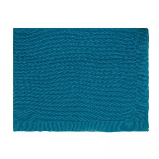 couverture-maille-tricot-bébé-rose-in-april-bleu-pétrole