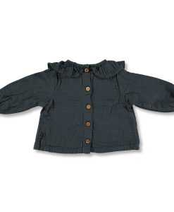 blouse-gaze-de-coton-gris-carbone-my-little-cozmo-bébé-dos