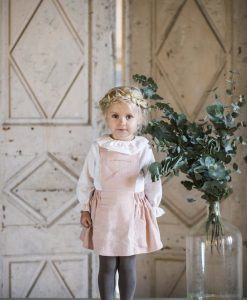 Robe-tablier-bebe-organic-rose-enfant