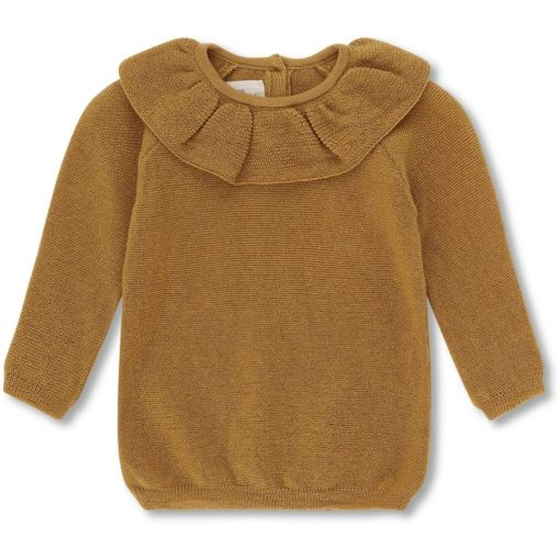 pull-enfant-col-volant-moutarde-konges
