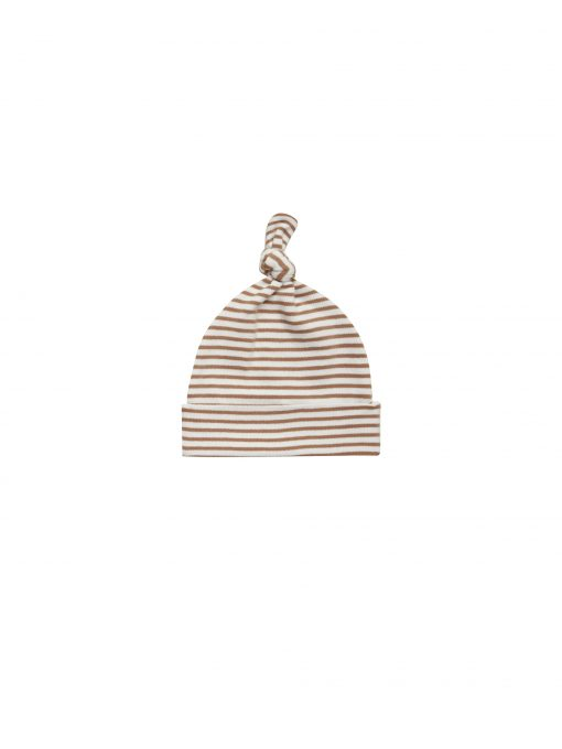 Knotted-Baby-Hat-Rust-Stripe-quincymae